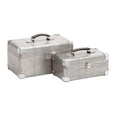 Wood and Aluminum Case, 2-Piece Set