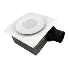 aero pure fans aero pure slim fit bathroom fan with led light white