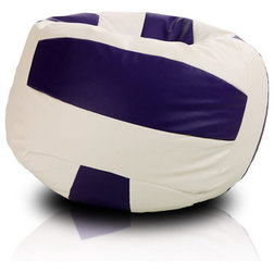 Beanbag Volleyball, White And Violet, Filled Bag