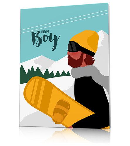 Tableau montagne snowboard - Décoration Murale