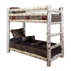 Montana Collection Twin Over Twin Bunk Bed, Ready to Finish