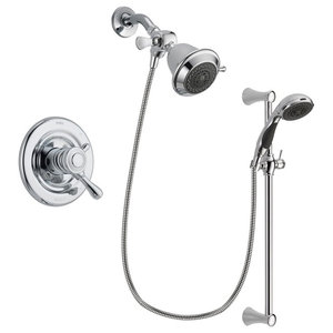 Delta Leland Chrome Shower Faucet System W/ Shower Head And ...