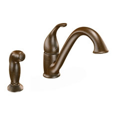 Moen 7840ORB Camerist Low-Arc 1-Handle Faucet w/Side Spray (Oil-Rubbed Bronze)