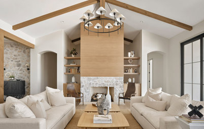 New This Week: 7 Living Rooms With Stylish Fireplace Designs