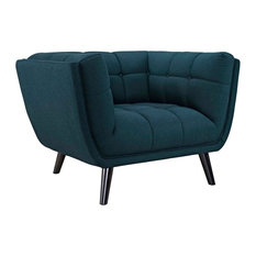Bestow Upholstered Fabric Armchair, Blue