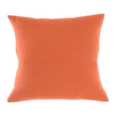 """Soft Washed Orange 100 Pure Linen Solid Decorative Throw Pillow Covers, 20""""x20"""""""