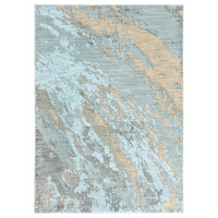 """Casa Marble Rug, Blue and Gray, 5'3""""x7'6"""""""