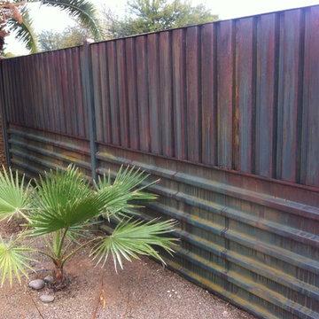 West Plaza Steel Fence Tucson, Arizona
