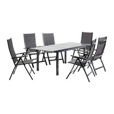 Topaz Family Outdoor Dining Set With Extendable Table
