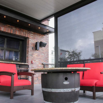 Commercial: Pergola with Louvered Roof (World Of Beer Bar, Tampa, FL)