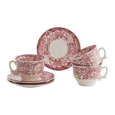 La Cartuja de Sevilla - Fine China Rosa 24-Piece Breakfast Dish Set - Dinnerware  sc 1 st  Houzz & 50 Most Popular Toile Dinnerware Sets for 2018 | Houzz