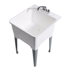 Cashel   Standard Sink With Steel Leg, Fully Loaded Sink Kit   Utility Sinks