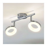 LED ceiling light Ringo, two bulb