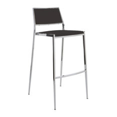 Aaron Stackable Stool, Black, Counter Height