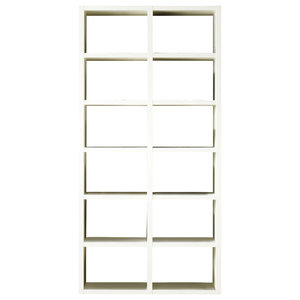 Torero Slim White Gloss Bookcase