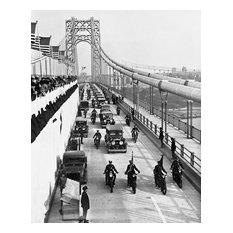 """George Washington Bridge, Opening Day, October 25, 1931, 16""""x20"""""""