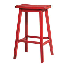 Gaucho Stools, Set of 2, Red, Bar Height