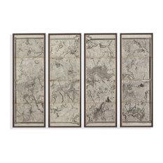 """Mapof London Panels"" Framed Under Glass Artwork"