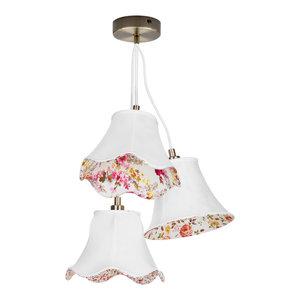 3 Light Vintage Floral Shade Ceiling Pendant
