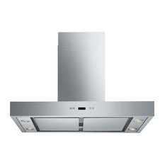 Spagna Vetro Wall-Mounted Stainless St Range Hood, 36""