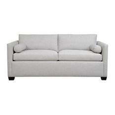 Duralee Furniture - Yucca Valley, Boxed Back Loveseat, Pewter - Loveseats