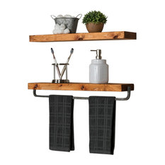 delhutson designs floating wall shelf and floating towel holder set display and wall shelves