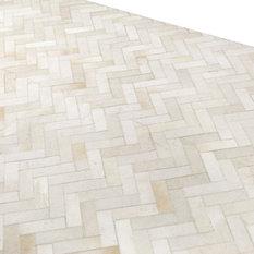MOD - Xander Cowhide Area Rug, Cream, 9'x12' - Area Rugs