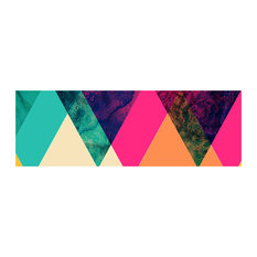Coloured Triangles Graphic Wall Mural, 180x60 cm