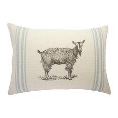 Goat Burlap Pillow