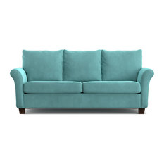 Bay   Modena Velvet Sofa, Turquoise   Sofas