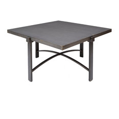 Silverwood Lewis Coffee Table With Square Metal Top Tables