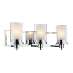 hardware house avalon wall fixture chrome 3 lights bathroom vanity lighting - Bathroom Vanity Lighting