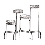 Four Tier Metal Plant Stand