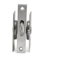 Jako Hardware   Modern Square European Style Pocket Door Lock, Polished 304  Stainless Steel,
