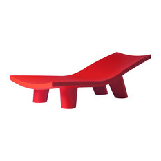Lita Low Chaise Longue, Flame Red