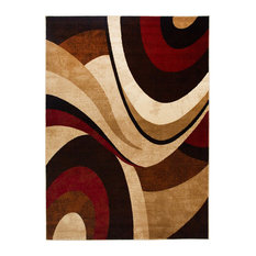 "Home Dynamix Tribeca Slade Runner Area Rug 26""x 12', Abstract Brown/Red"