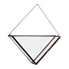 Triangle Terrarium Vase, Brass Chain