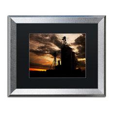 Jason Shaffer 'Gravel Mill' Matted Framed Art, Silver Frame, Black Mat, 20x16