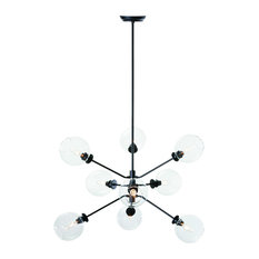 Atom 9-Light Pendant Lamp, Clear