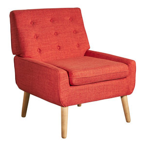 Madelyn Mid Century Modern Fabric Club Chair Midcentury