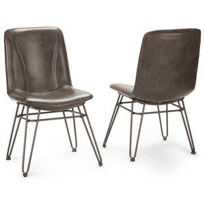 Reuben Upholstered Barstool With Adjustable Height Metal
