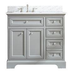"South Bay 37"" Bathroom Vanity, Gray Finish"