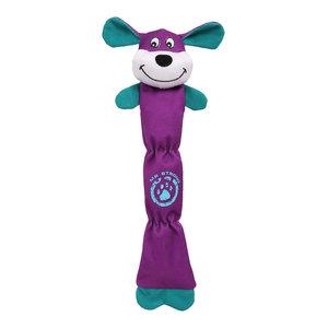 Extra Long Dura-Chew Plush Chew Tugging Dog Toy, Purple