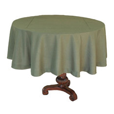 "Double Hemstitch Easy Care Tablecloth, 70"" Round, Pine"