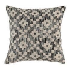"Kosas - Ziggy Embroidered 22"" Throw Pillow by Kosas Home, Black - Decorative Pillows"