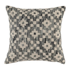 "Ziggy Embroidered 22"" Throw Pillow, Black by Kosas Home"