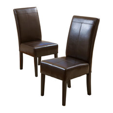 GDF Studio Emilia Fabric Dining Chairs Brown Set Of 2