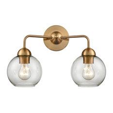 Astoria 2 Light Bathroom Vanity Light in Satin Gold
