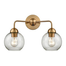 Astoria 2 Light Bathroom Vanity Light in Satin Gold