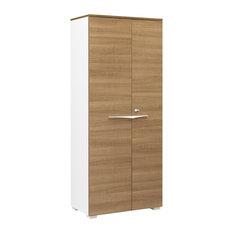 Xenon Lockable 2-Door Storage Cabinet, Cherry Wood Finish
